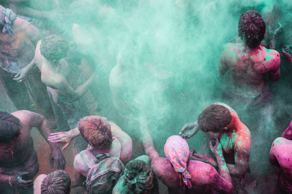 Cloud Coloured powder stock image. Image of color, mineral ... |Color Powder In Air