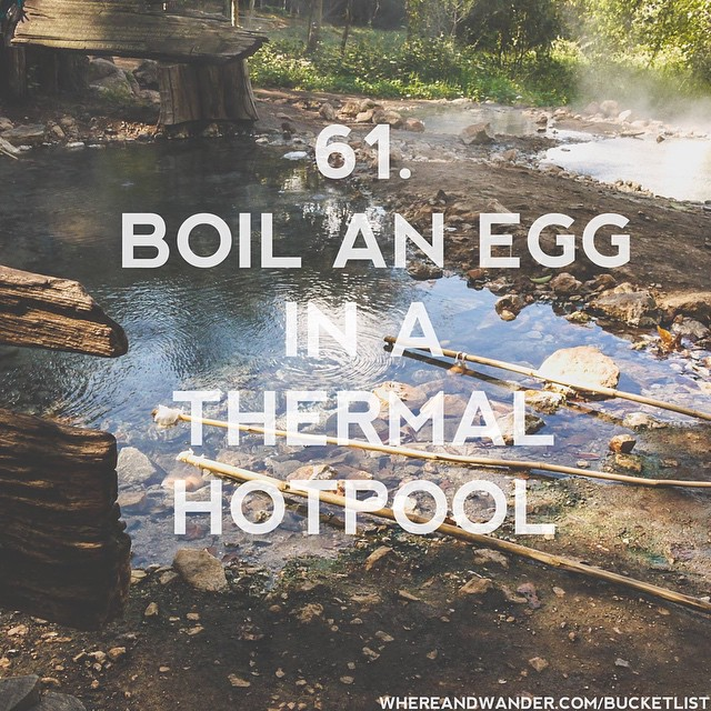 #61 on the #bucketlist. #boil an #egg in a #thermal…