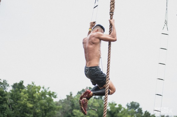 BattleFrog 15K Obstacle Course Race Rope Climb