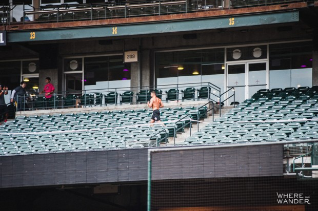 Running Stadiums Steps AT&T Park Spartan Stadium Sprint