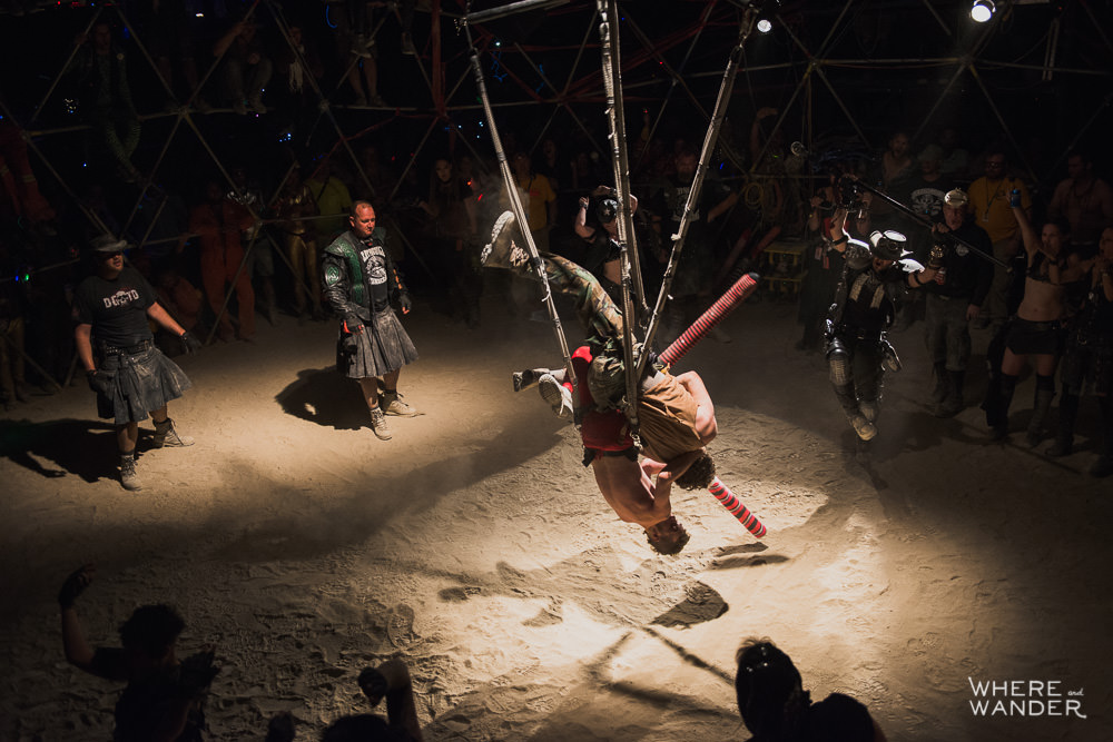 Thunderdome Fight at Burning Man