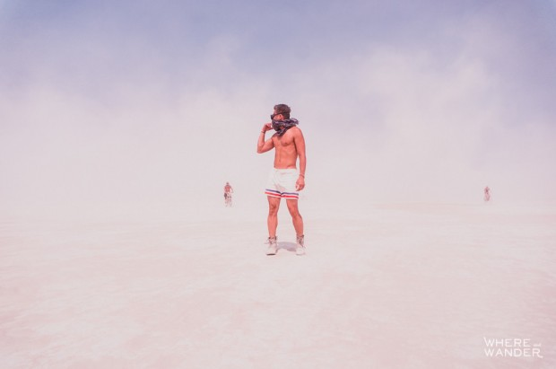 Burning Man Duststorm
