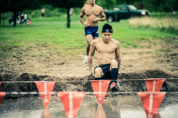 Entering Mud Pit At Merrell Down And Dirty Race