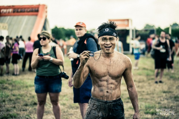 Kien Lam Finishing At Merrell Down and Dirty Obstacle Race