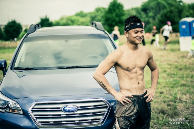 Posing At Merrell Down and Dirty Obstacle Race