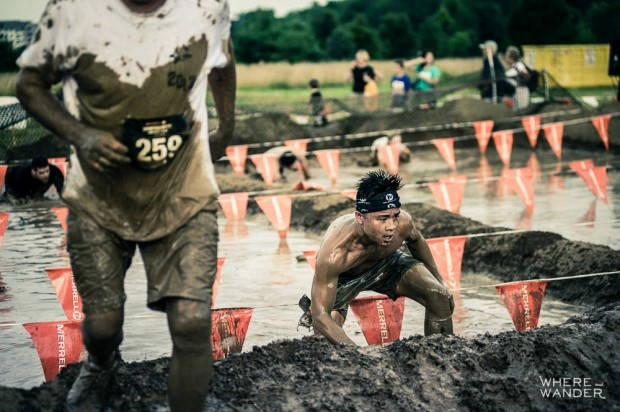 Mud Pit At Merrell Down and Dirty Obstacle Race