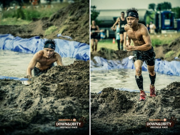 Water Crossing At Merrell Down and Dirty Obstacle Race