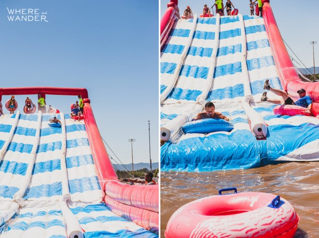 ROC Race 5K Obstacle: Waterslide Dropoff
