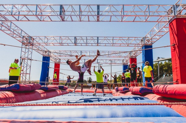 ROC Race 5K Obstacle: Tight Rope Traverse