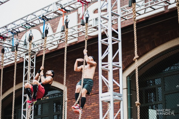 Rope Climb at AT&T Park Spartan Stadium Sprint