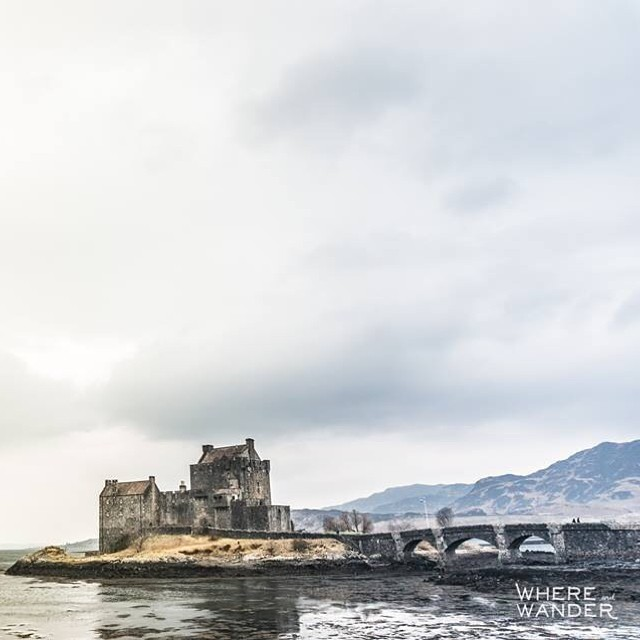 Couldn't find the Loch Ness monster, but found this neat little castle. http://whereandwander.com #travel #eileandonan #scotland #highlands #world #tourism #whereandwander #castle #lochness #nessie