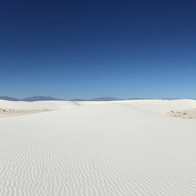 Endless. White Sands National Monument. #travel #newmexico #whitesands #sandduning #rtw #whereandwander