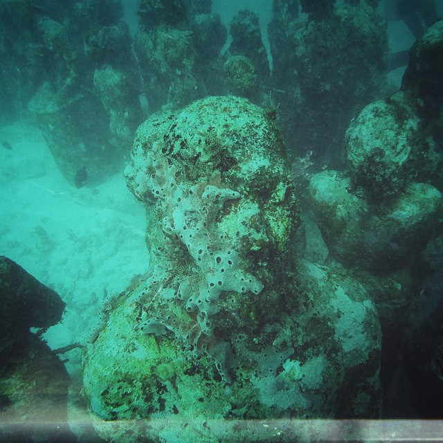 The answer in her eyes. #musa #travel #underwater #diving #scuba #mexico #islamujeres #eerie #haunting