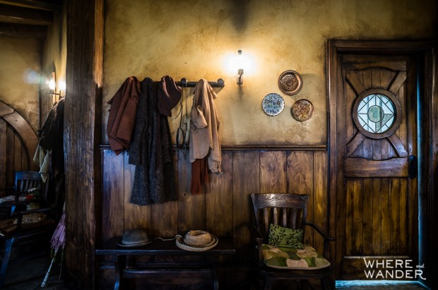 Hobbit Clothes On The Set Of The Hobbit and Lord of the Rings Green Dragon Inn