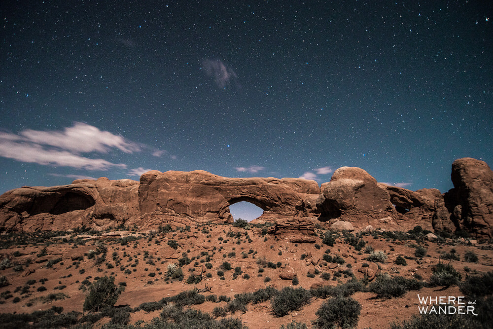 Visiting Arches National Park At Night