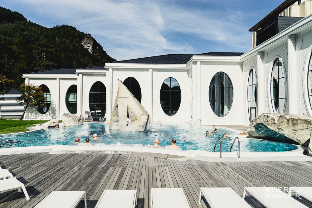 Termina Therme Outside Pool and Chairs
