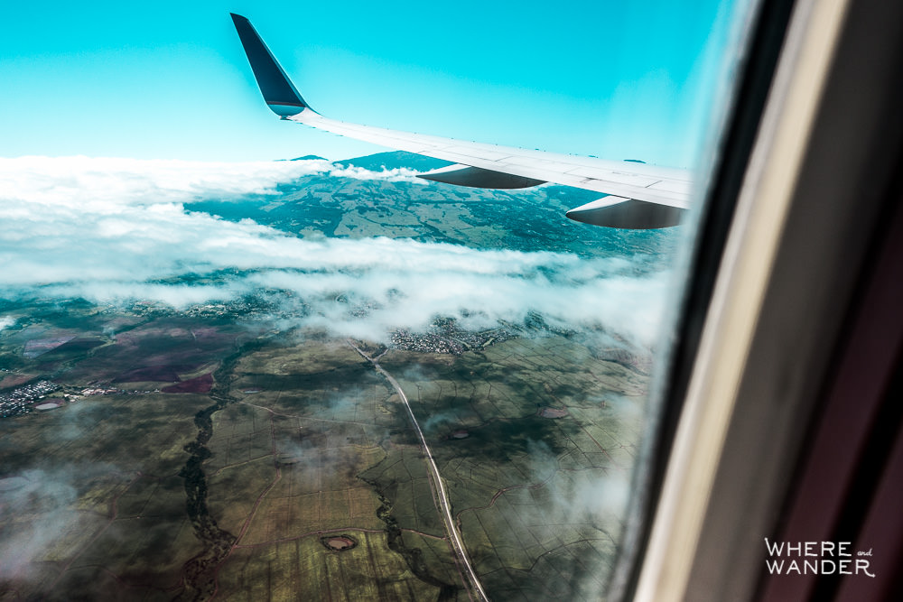 Aerial View Of Maui From Airplane