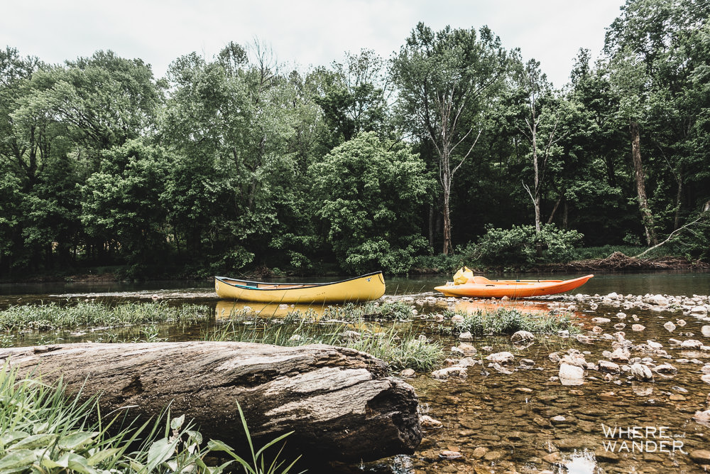 Kayaking North River In Missouri At Sunburst Ranch