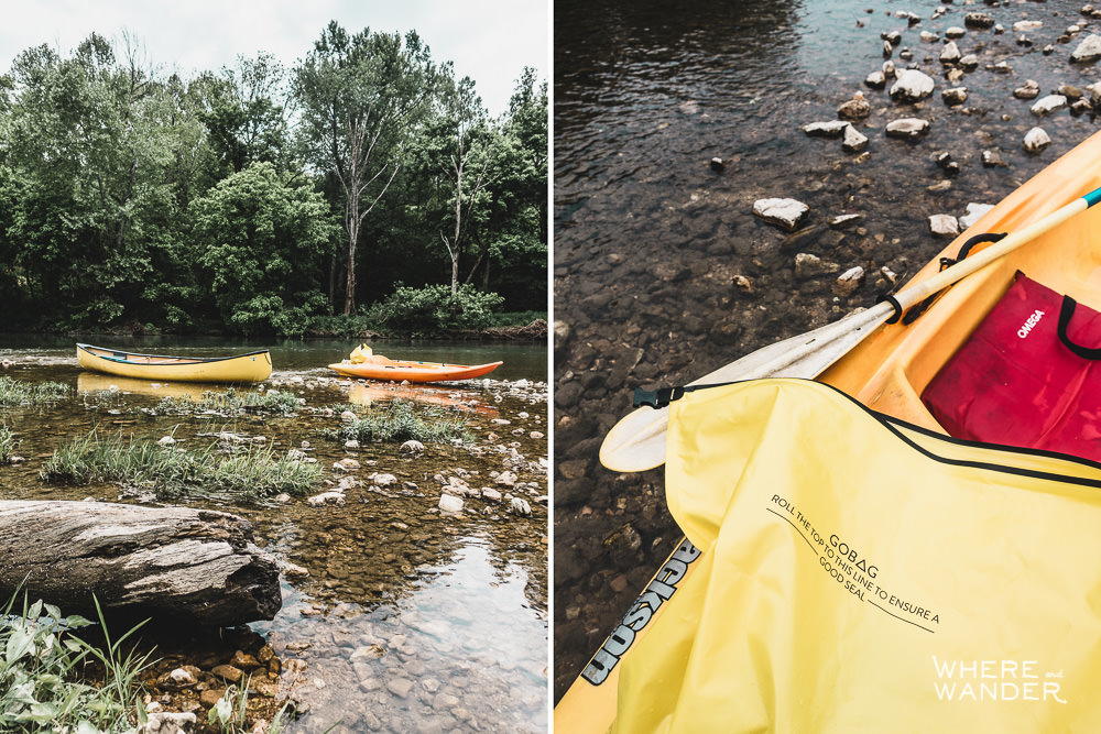 GOBAG Max Pack Bag On Kayak