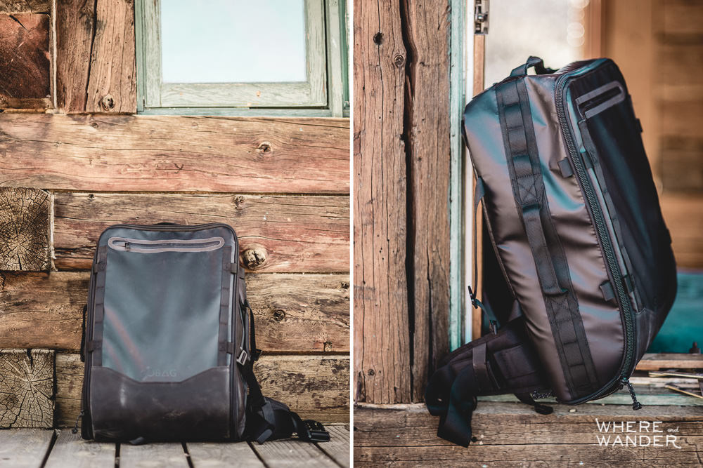 Front and Profile View of GOBAG Travel Bag