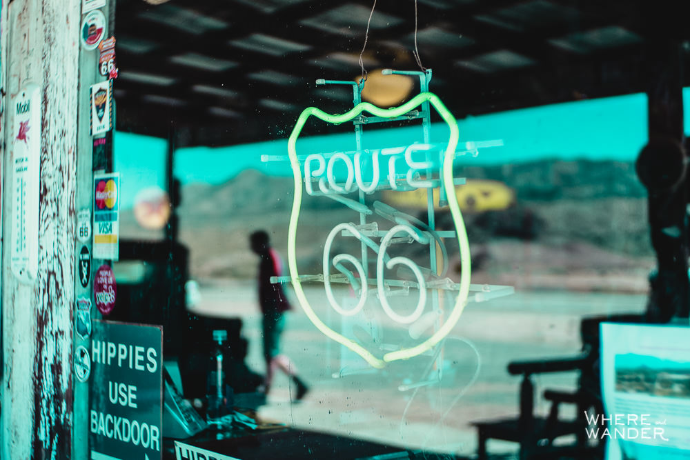 Route 66 Sign At Hackberry General Store