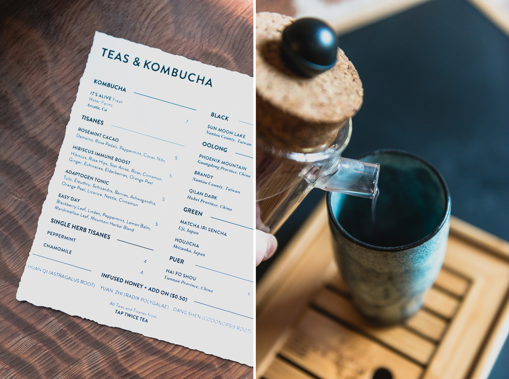 Onsen SF Tea and Kombucha Menu