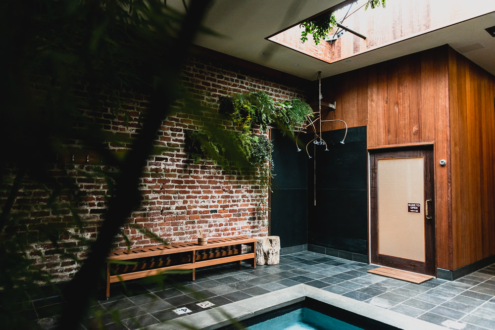 Brick Interior Design Of Japanese Style Onsen