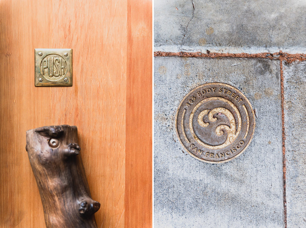 Onsen SF Bronzed Wooden Door Handle