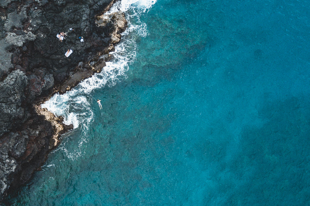 Hawaii Drone Over Water