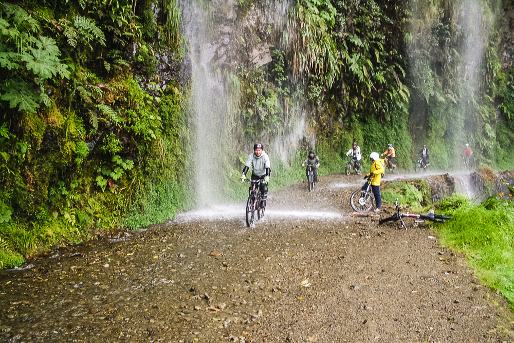 Kien Lam Biking Death Road In Bolivia