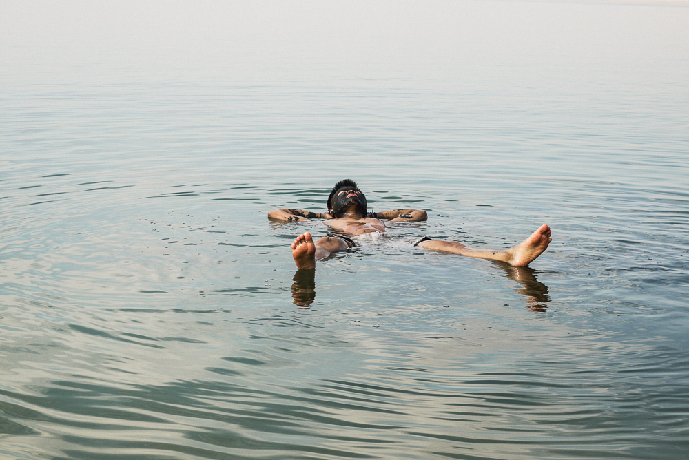 Tourist Floating In Dead Sea
