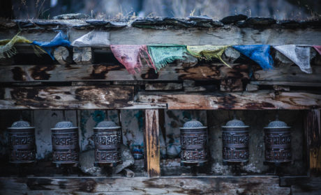 Prayer Wheels On Annapurna Circuit
