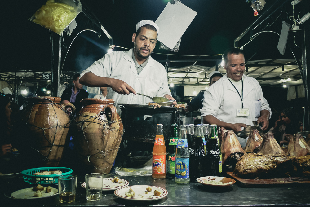 Vendors Serving Sheep Heads Jamaa El Fna