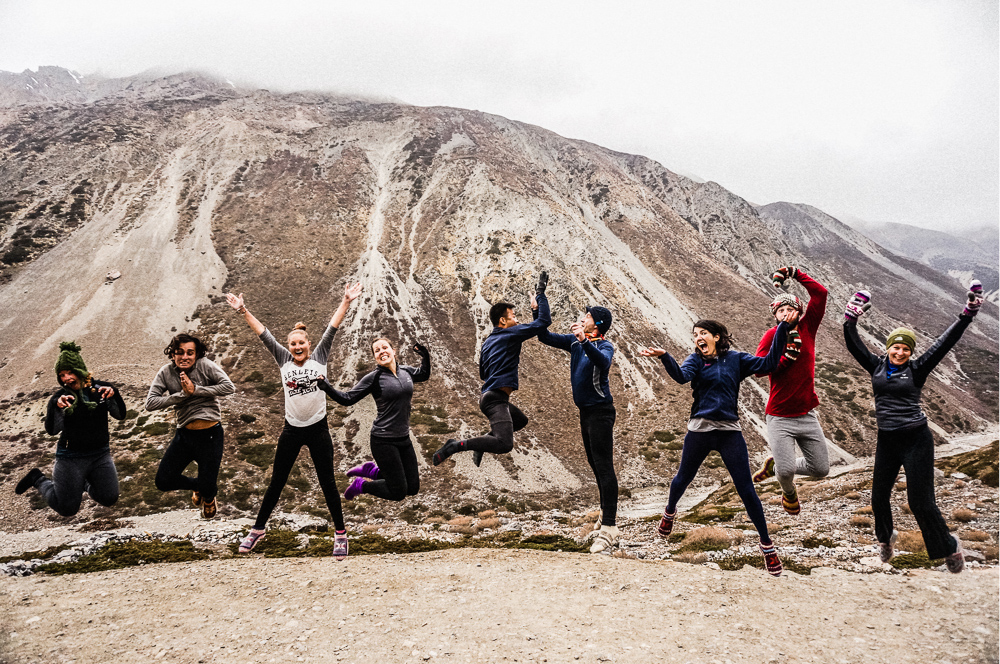 Long Johns Jumping Shot Annapurna Circuit