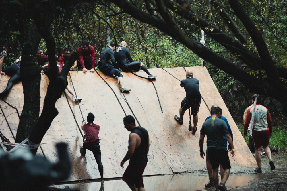Malibu Spartan Race Slipper Wall Obstacle