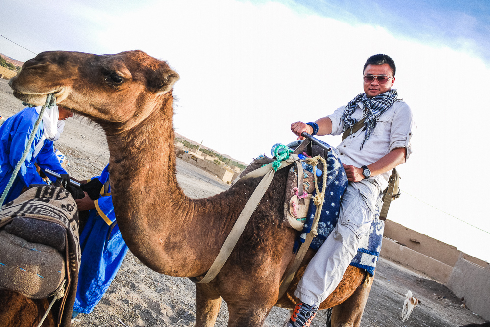 Kien Lam Camel Ride Through Merzouga Desert Sand Dunes