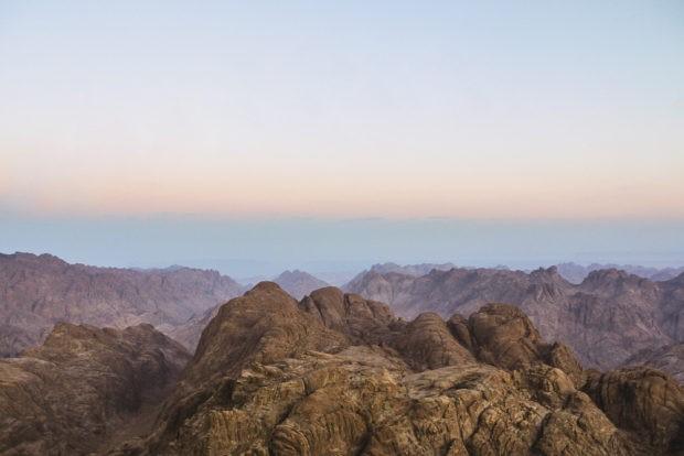 Sunrise On Mount Sinai in Egypt