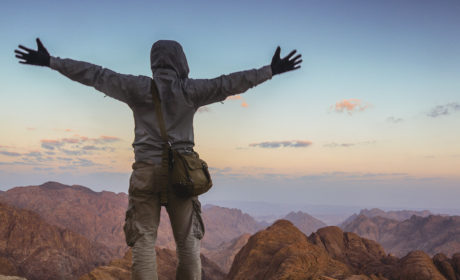 Standing Atop Mount Sinai At Surnise