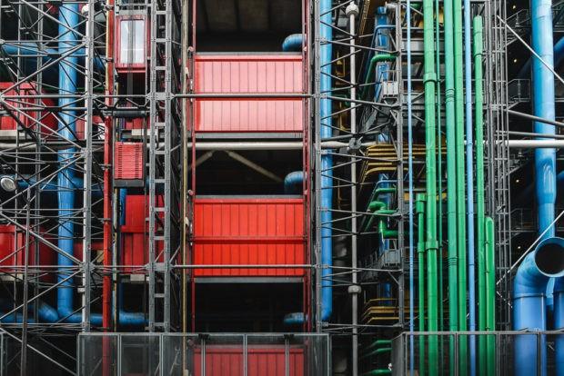 Paris Centre Georges Pompidou Architecture Photography