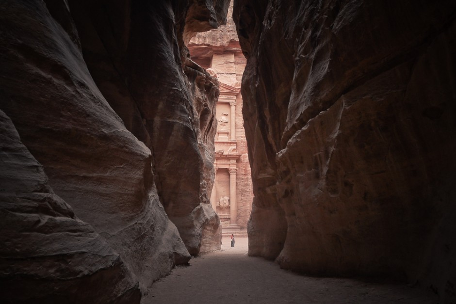 Entrance to Lost City of Petra in Jordan