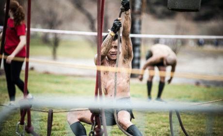 Attempting Spartan Race Herculean Hoist Obstacle