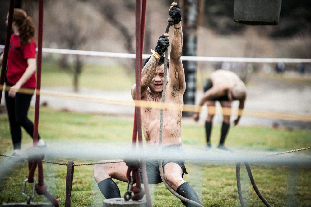 Attempting Spartan Race Herculean Hoist Obstacle
