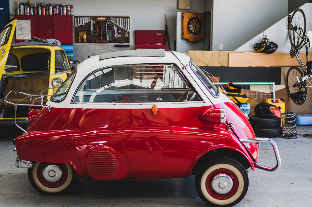 Vintage Restored BMW Isetta Side View