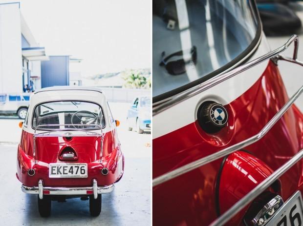 Vintage Restored BMW Isetta Back View