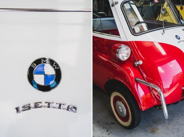 Vintage Restored BMW Isetta Close Up