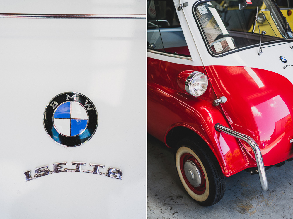 Vintage Restored BMW Isetta Close Up