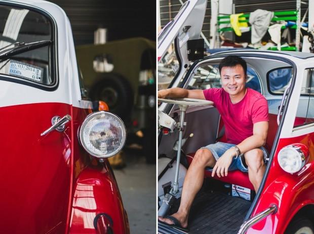 Kien Lam BMW Vintage Restored Isetta Headlights