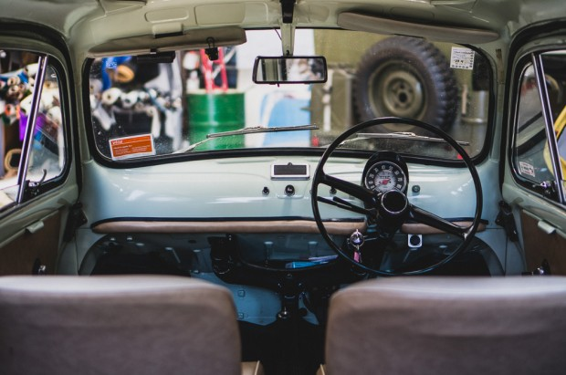 Interior of Restored Fiat Bambino Wagon