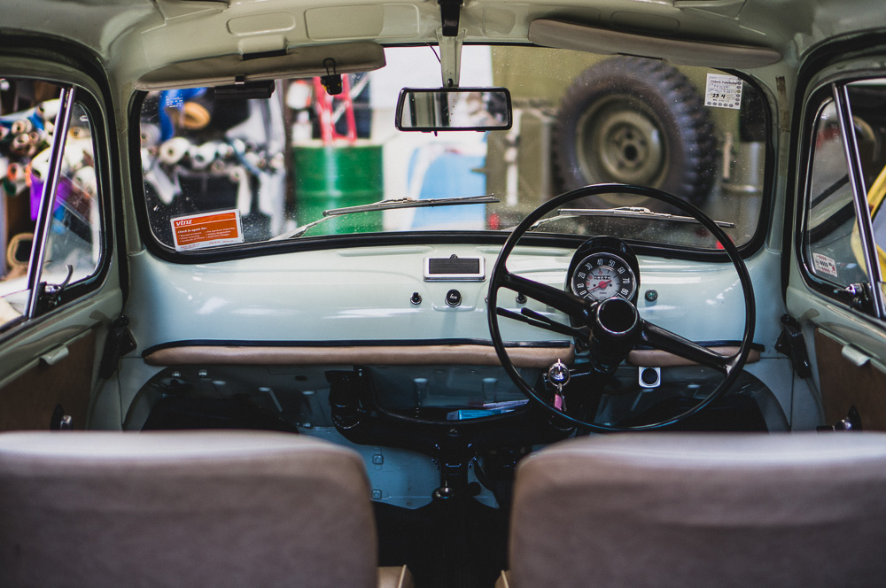 Interior of Restored Fiat Bambino Wagon