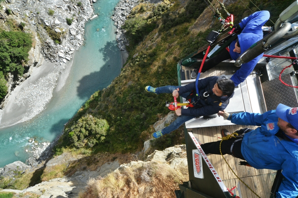 Shotover Canyon Swing Queenstown New Zealand Where And Wander